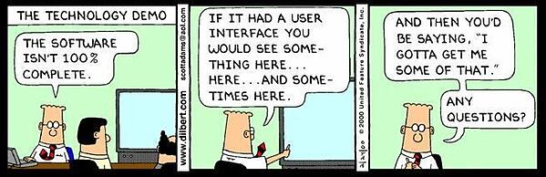 The Technology Demo comic cartoon by Dilbert